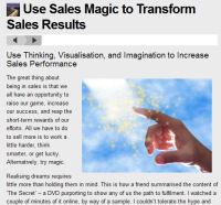 Sales Articles and Sales Training Resources