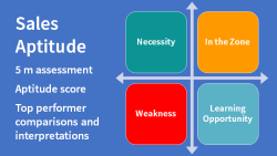 Sales Aptitude Assessment Diagram